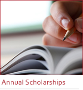 annual scholarships banner